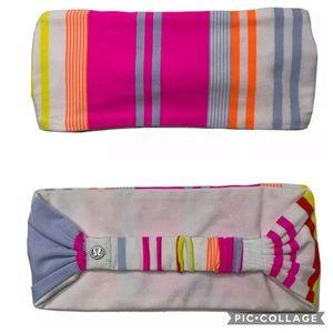 LULULEMON Bright Colorful Striped Headband